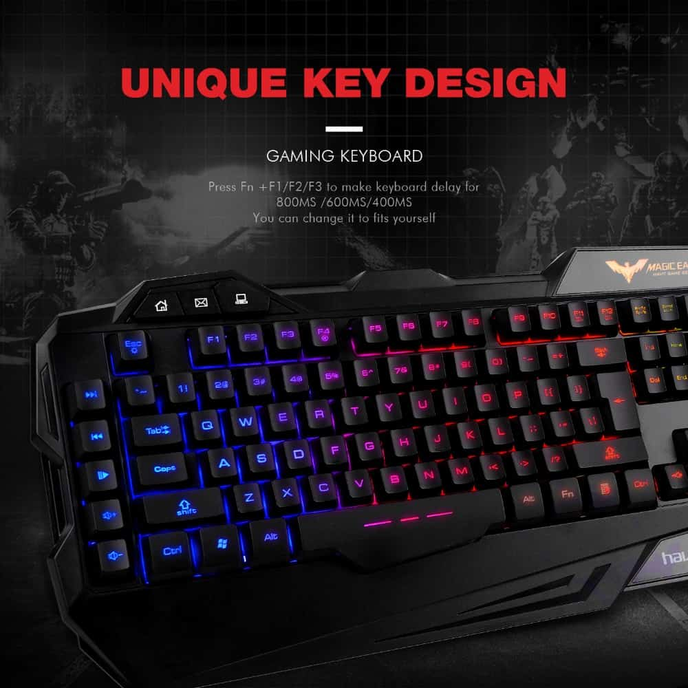 havit russian gaming keyboard mouse combo usb wired rainbow kanga supply. Black Bedroom Furniture Sets. Home Design Ideas